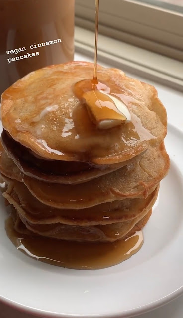 vegan cinnamon pancakes recipe