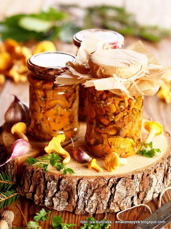 kurki po wlosku, grzyby, na zime, przetwory, do spizarni, grzybki marynowane inaczej, kurka,