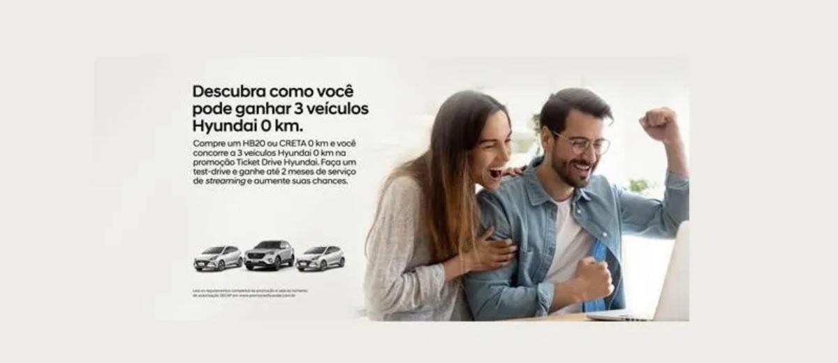 Promoção Ticket Drive Hyundai Até Outubro 2020