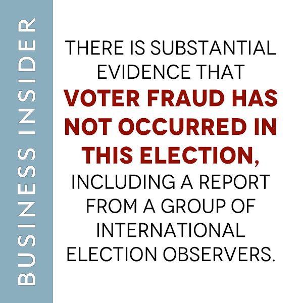 There is substantial evidence that voter fraud has not occurred in this election, including a report from a group of international election observers. — Yelena Dzhanova, Business Insider
