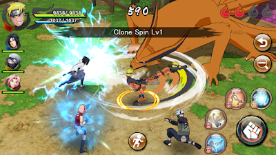 Tampilan Game Naruto X Boruto Ninja Voltage Mod Android english version