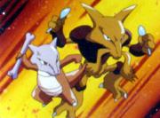 Alakazam y Marowak