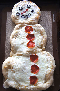 Snowman Pizza:Savory Sweet and Satisfying