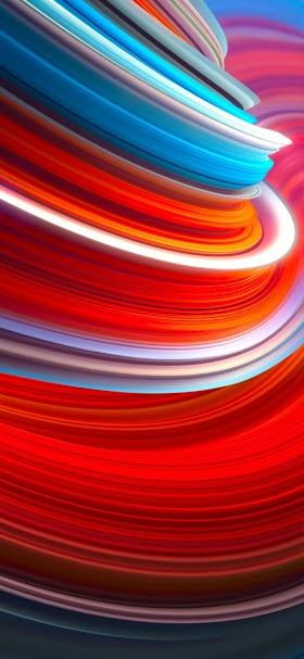 خلفية امتدادات ضوئية دائرية حمراء و زرقاء