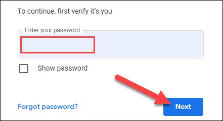 """سجّل الدخول إلى حسابك في Google وانقر على """"التالي""""."""