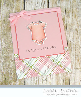 Baby Girl Congratulations card-designed by Lori Tecler/Inking Aloud-stamps and dies from SugarPea Designs