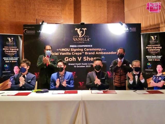 Atlet Badminton Kebangsaan Goh V Shem Duta Vanilla Mille Crepe