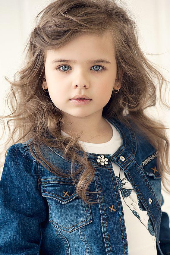 Cortes de cabello rizado para nina