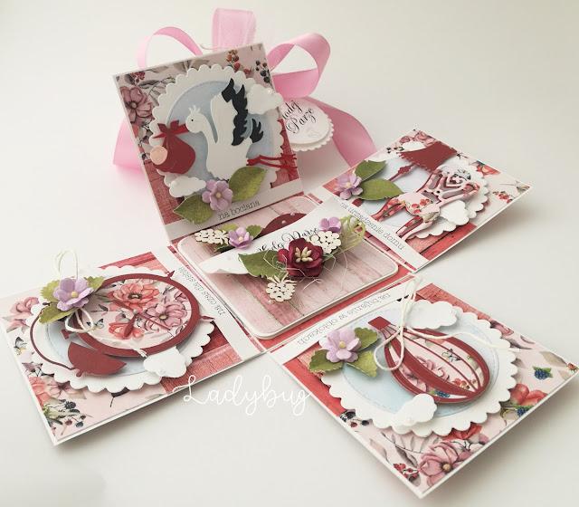 Róże i Jeżyny - pudełko ślubne