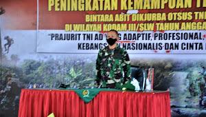 Danrindam III/Siliwangi Buka Kegiatan Peningkatan Kemampuan Teritorial Bintara Abit Dikjurba Otsus TNI AD