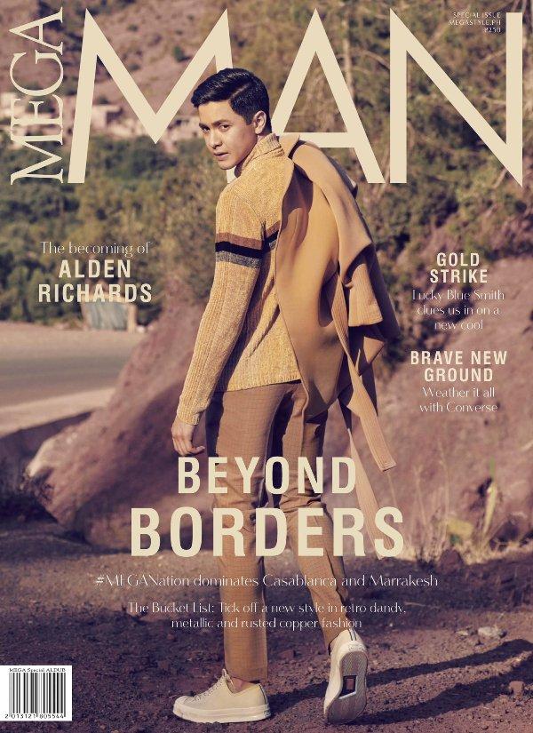 Maine Mendoza and Alden Richards grace covers of MEGA Magazine Ocober 2016 issue