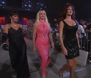 WCW - The Great American Bash 1996 - Deborah McMichael (w/ Woman & Elizabeth) betrayed Kevin Greene