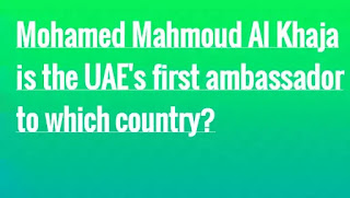 Mohamed Mahmoud Al Khaja is the UAE's first ambassador to which country?