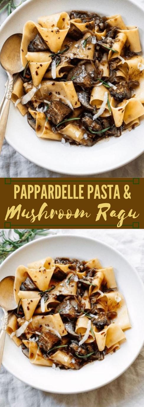 PAPPARDELLE PASTA WITH PORTOBELLO MUSHROOM RAGU  #vegetarian #vegan #potato #mushroom #pasta