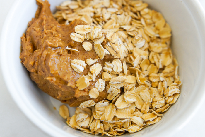 almond butter and oats for energy balls