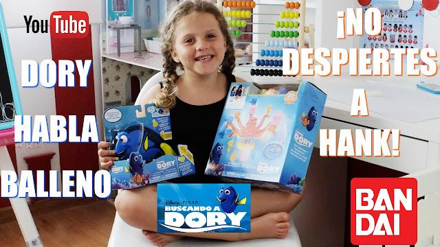 Buscando a Dory - Dory habla Balleno - No despiertes a Hank - Bandai
