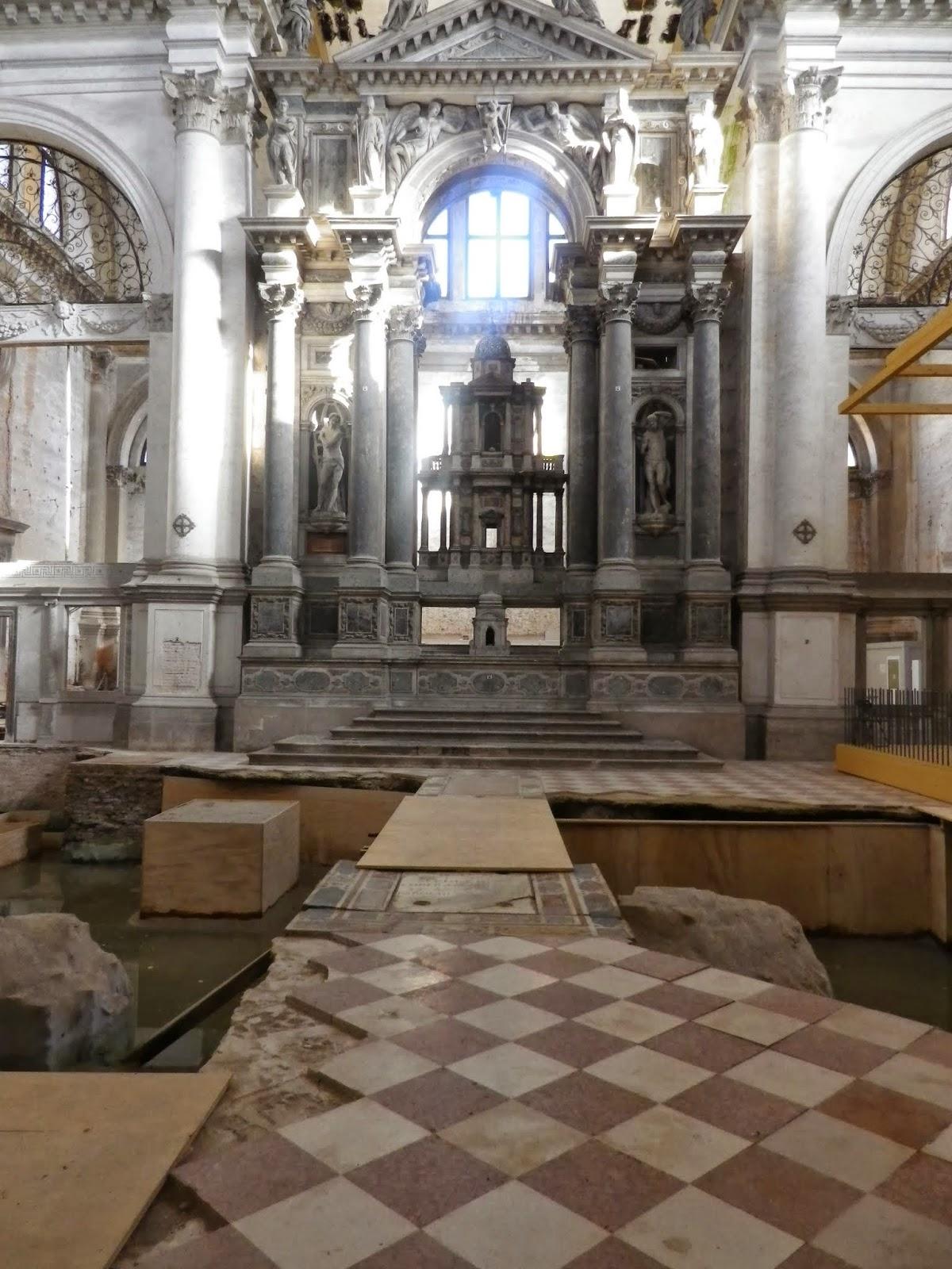 The interior of the church of San Lorenzo, Venice