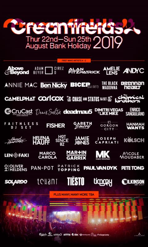 Poster of CreamFields 2019 Festival