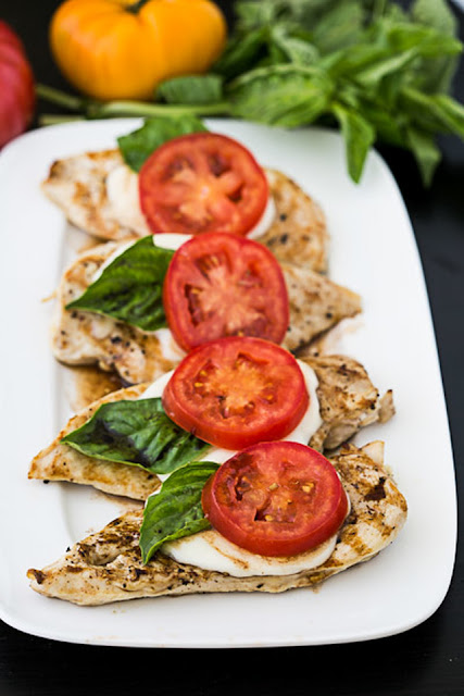 Caprese Grilled Chicken with Balsamic Reduction Recipe