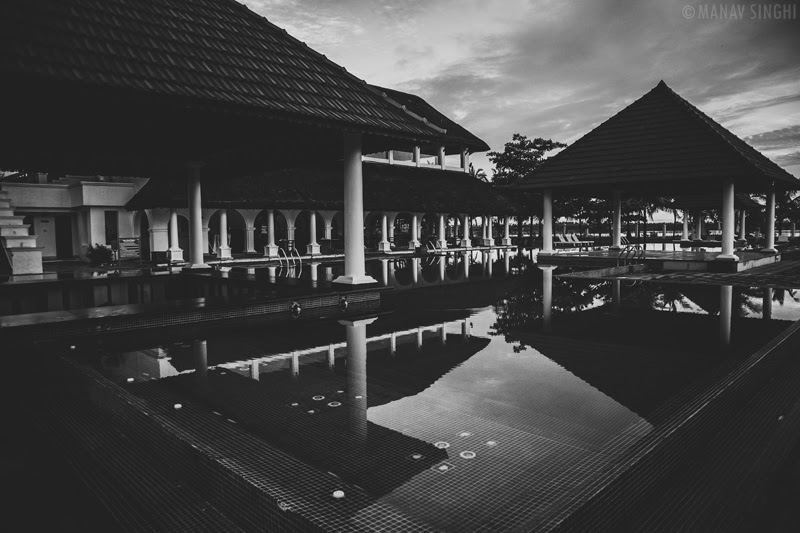 Pool and Restaurant at the back at Le Pondy Beach Resort, Pondicherry- 31-Oct-2019