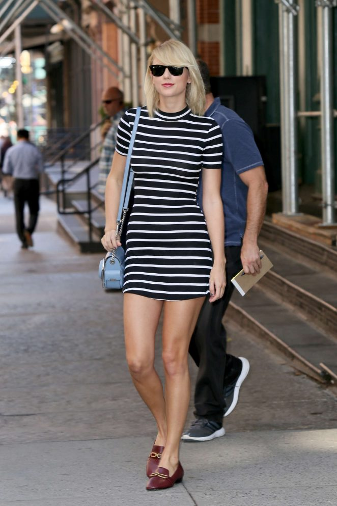 Taylor Swift showcases long legs out and about in New York