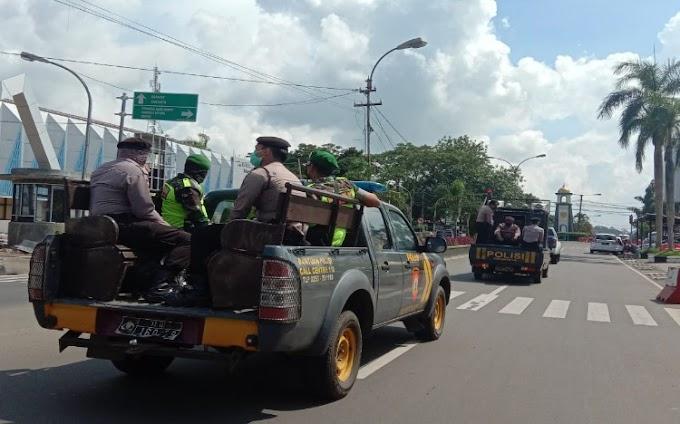Antisipasi Takbir Keliling, Polres Pandeglang bersama Tim Gabungan TNI-Polri Patroli Malam Takbir