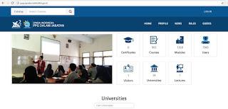 http://ppg.spada.ristekdikti.go.id/ Website Belajar Online Peserta PPGJ