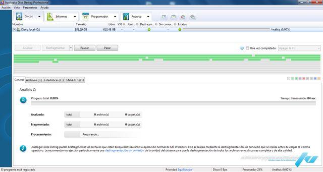 Auslogics Disk Defrag Pro Versión 4.9.2 Full - Desfragmentar Disco Duro