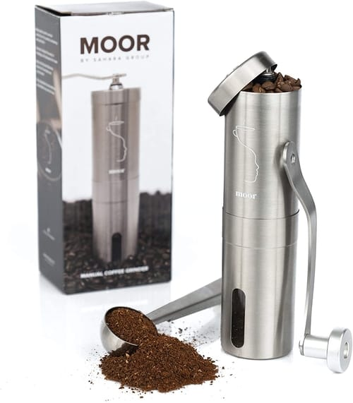 MOOR Manual Coffee Grinder with Adjustable Setting