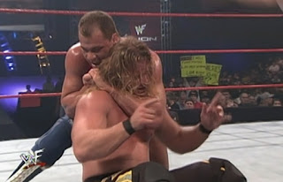 WWE / WWF Rebellion 2001 - Kurt Angle challenged Chris Jericho for the WCW title