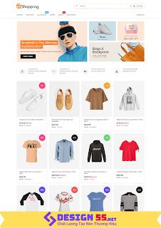 Template blogspot bán hàng quần áo chuẩn SEO VSM01