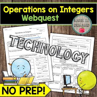 Operations on Integers Webquest