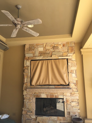 image of outdoor patio tv and cover