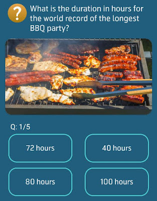 What is the duration in hours for the world record of the longest BBQ party
