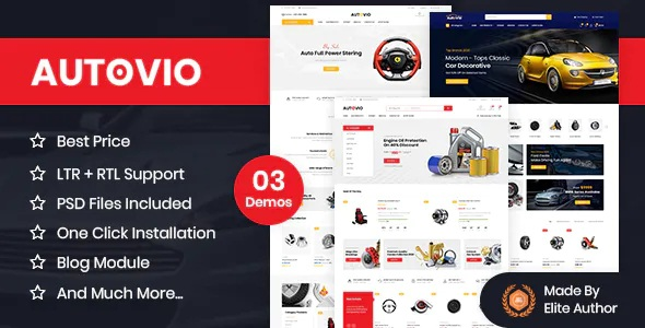 Best Car Accessories, Auto Parts OpenCart Theme