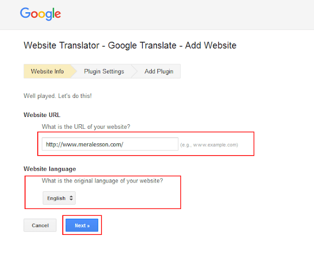 translate your blogSpot blog