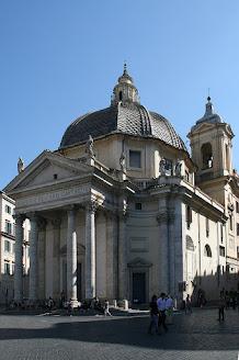 The Basilica of Santa Maria in Montesanto in Piazza del Popolo