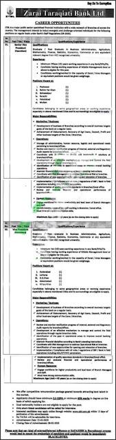 Zaraqiati Bank Limited Jobs 2020 for Senior Voice President