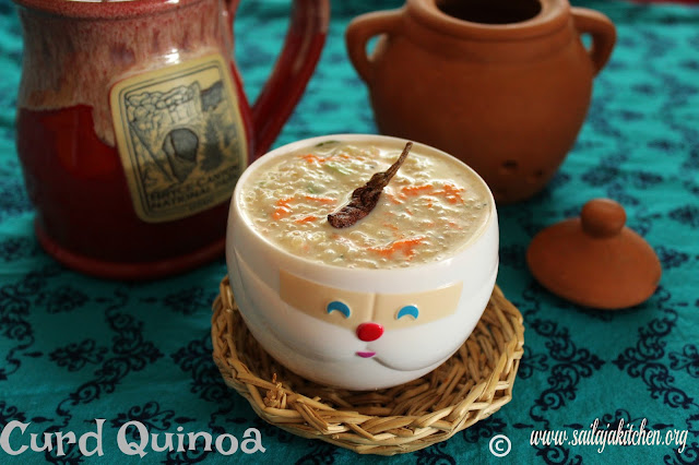 images of Quinoa Curd Bath Recipe / Curd Quinoa Recipe / Dahi Quinoa - Quick Lunch Box Recipe