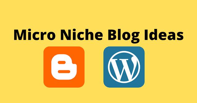 Micro Niche Blog Ideas