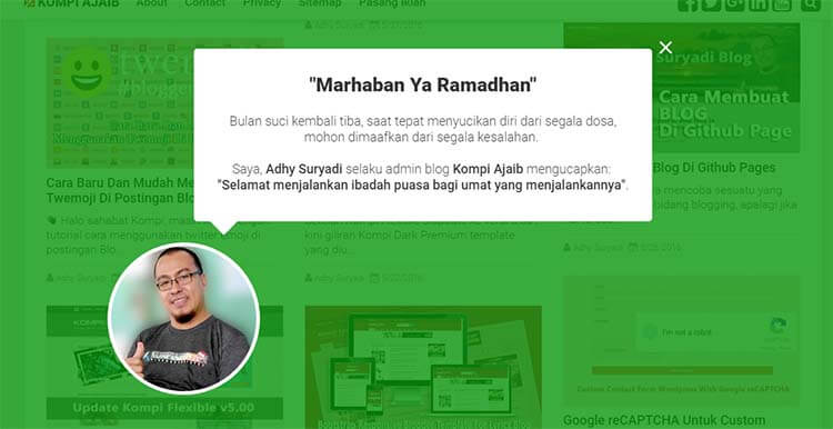 Ucapan Marhaban Ya Ramadhan Dengan CSS Animation