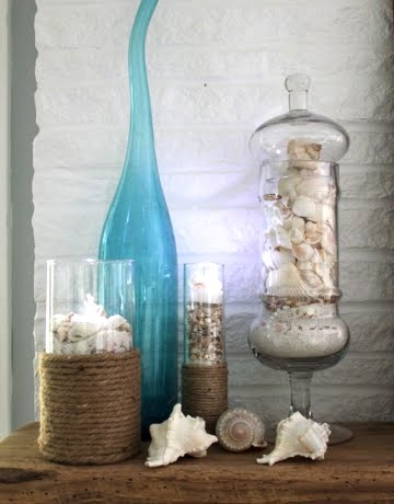 beach mantels with shells
