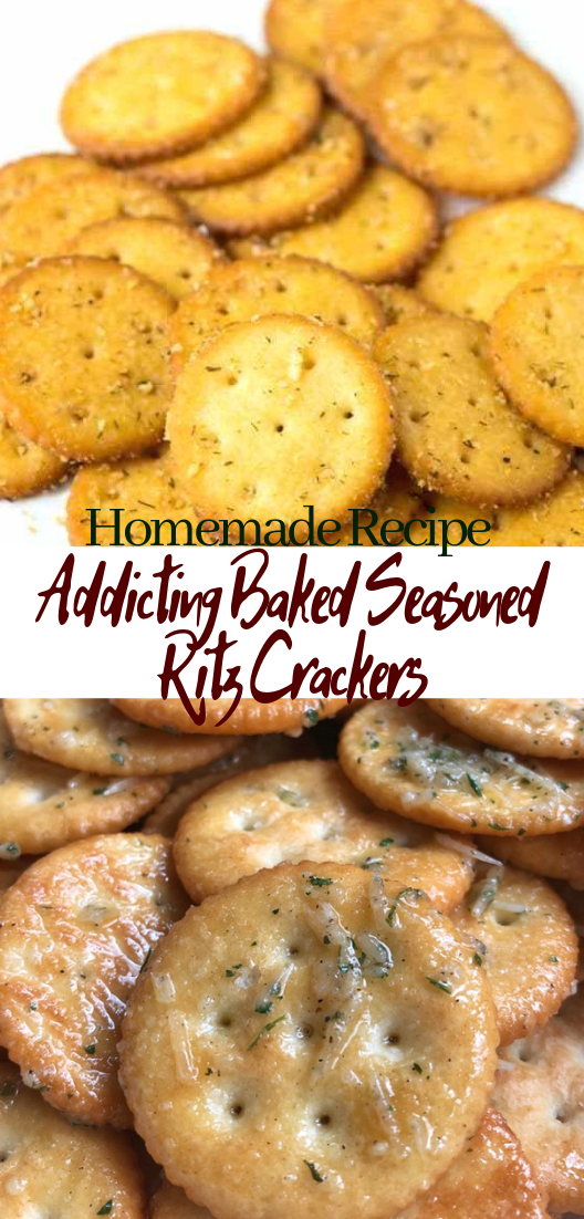 Addicting Baked Seasoned Ritz Crackers #desserts #cakerecipe #chocolate #fingerfood #easy