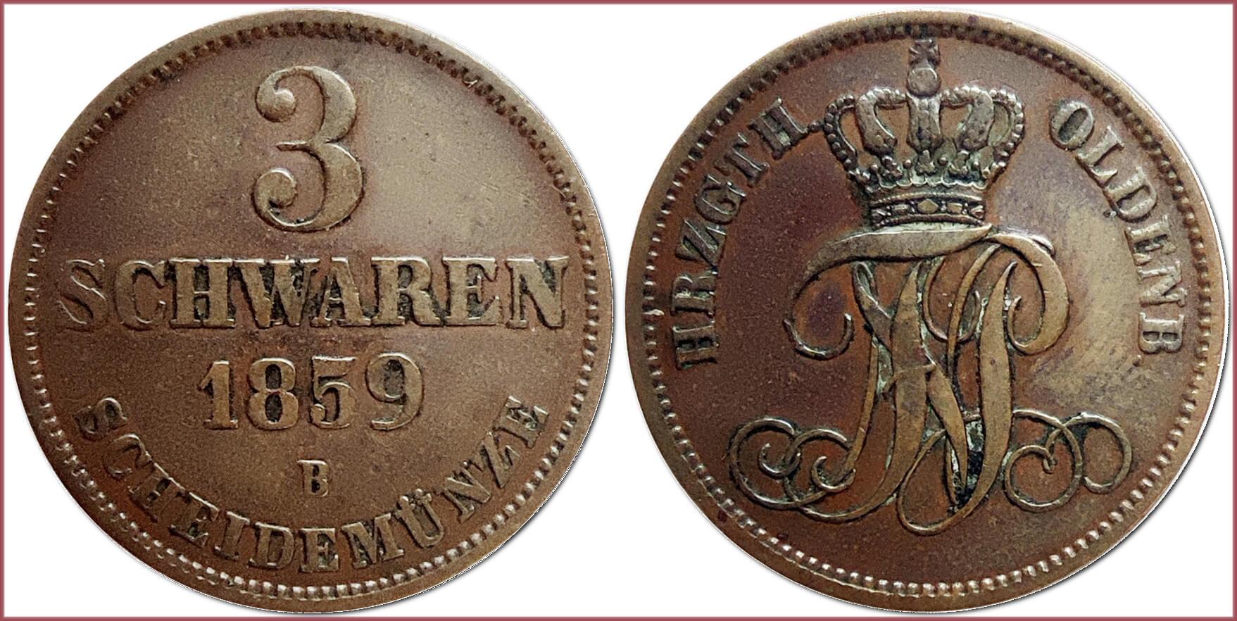 3 schwaren, 1859: Grand Duchy of Oldenburg