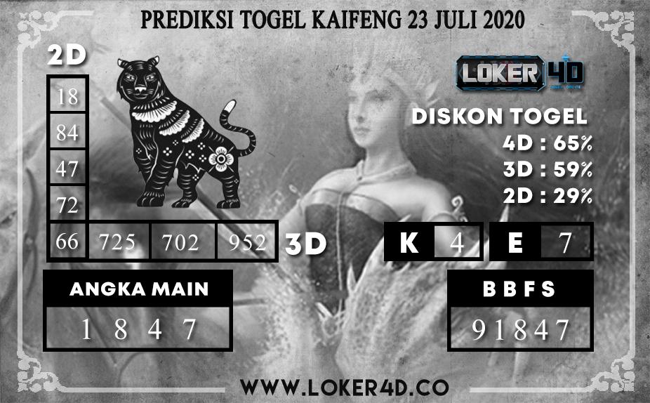 PREDIKSI TOGEL LOKER4D KAIFENG 23 JULI 2020