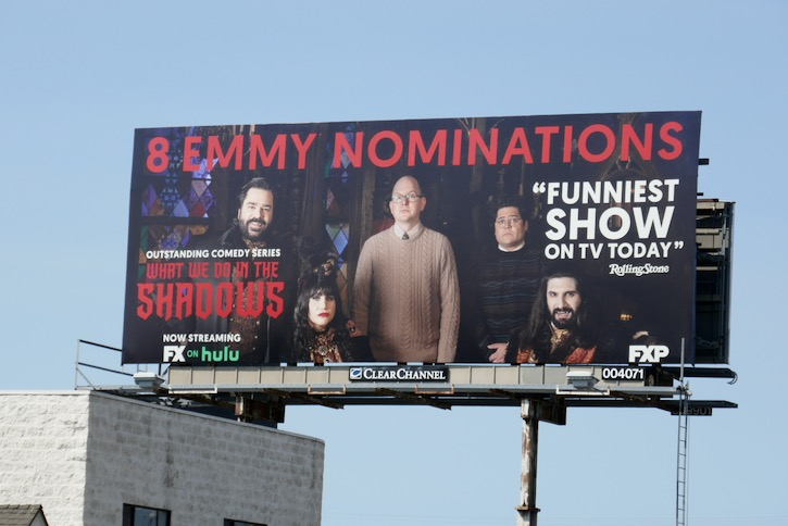 What We Do in the Shadows 2020 Emmy nominee billboard