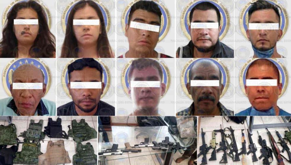 Capturan a 10 Sicarios del Marro en fraccionamiento Villas de Irapuato, querían huir pero ya estaban rodeados