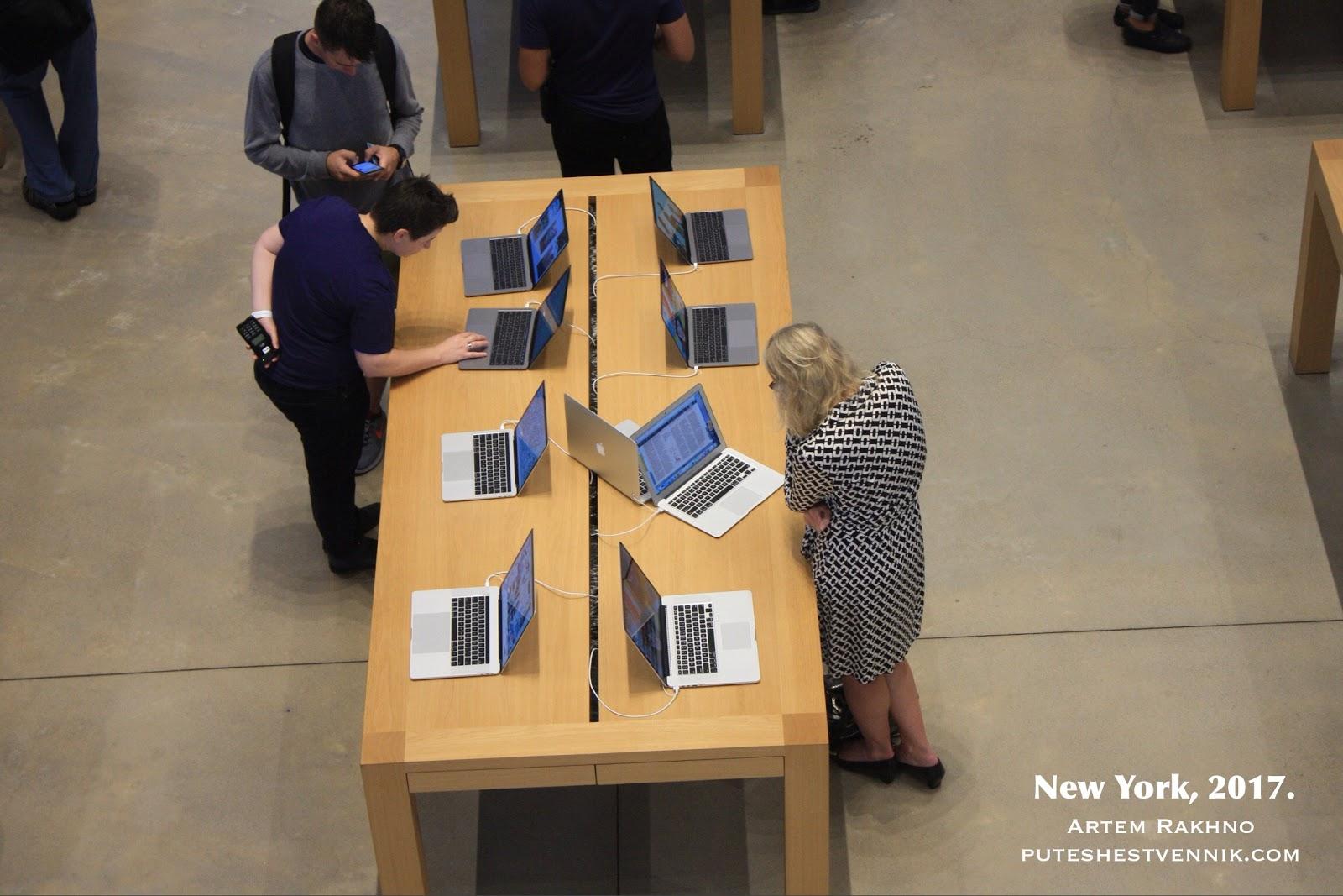 Магазин Эппл в Нью-Йорке