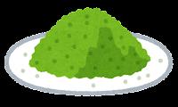 粉のイラスト(緑)