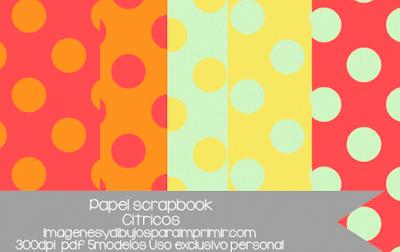 papel scrapbooking para imprimir infantil